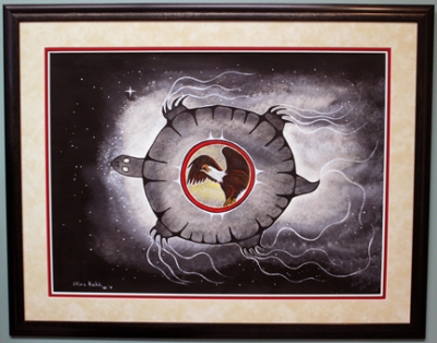 Untitled Turtle 38 x 30 inches Framed Mixed Media on Arches Paper $1075.00